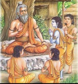 Guru Shishya (Teacher-pupil) tradition in India. The words of the teacher are assumed to be distilled wisdom of the ages.